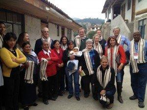 Weavers in Otavalo, Ecuador